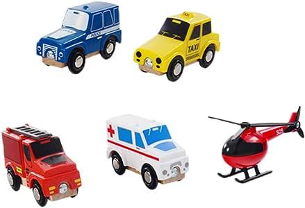 Homyl Juego de 5 Tipos de Medios de Transporte de Rescate,Juguete de Avión y Coches, Regalo para Niños: Amazon.es: Juguetes y juegos
