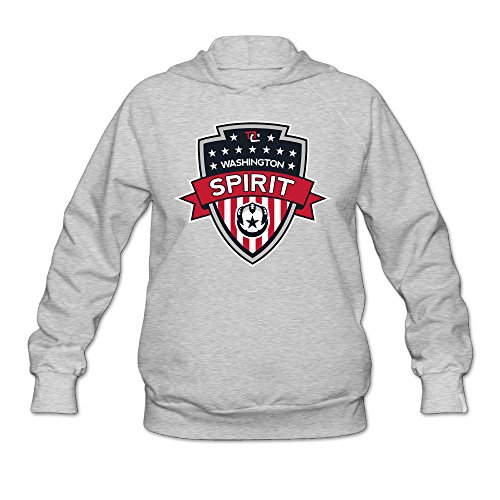 PHOEB Womens Sportswear Drawstring Hoodies Outwear Jacket,American Soccer Club Ash Medium