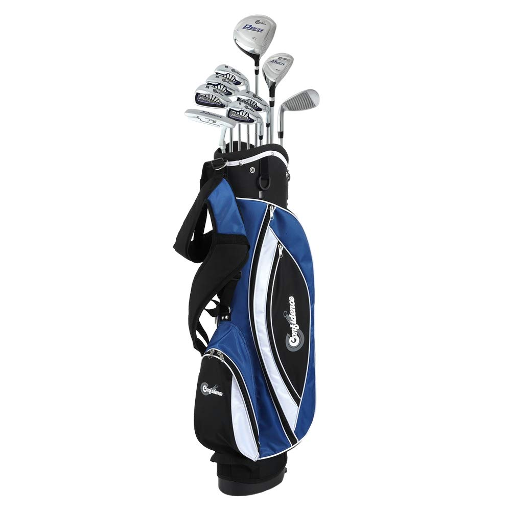 Confidence Golf Mens Power V3 Hybrid Club Set Stand Bag Lefty