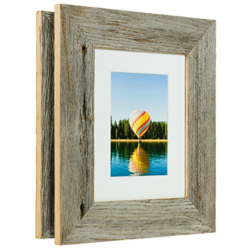 Craig Frames 8 by 10-Inch Reclaimed Barnwood Picture Frame w