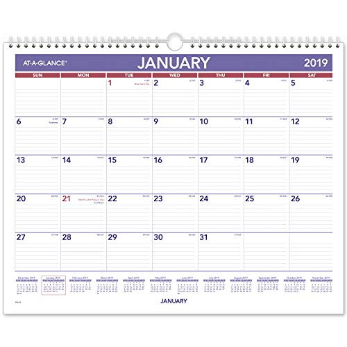 (AT-A-GLANCE 2019 Monthly Wall Calendar, 15