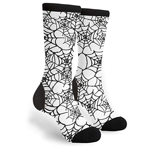 KSSChr Men Women Classic Crew Socks Seamless Spider Web Classics Personalized Socks Sport Athletic Stockings ()