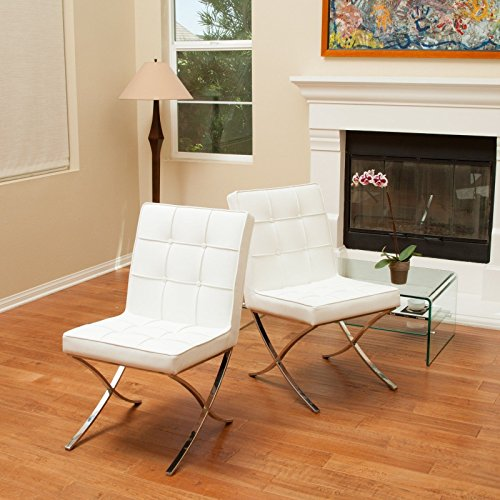Pandora Modern Design Leather Dining Chairs, Set of 2