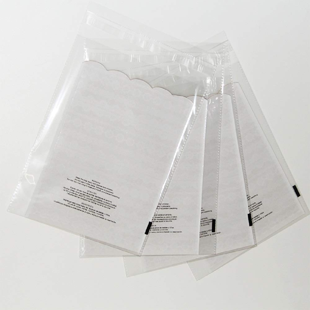1000 10x13 Suffocation Warning Self Seal Flap Tape Clear ValueMailers Poly Bags Cello Cellophane Polypropylene OPP Bags 1.5 MIL