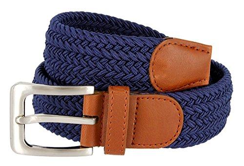 (Hagora Women's Multi Braided Stretchy Contrast Leather 1-3/8