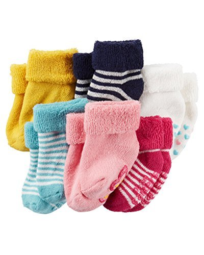 Carter's Baby-Girls Socks, Cuffed, 3-12 Months (Pack of 6)