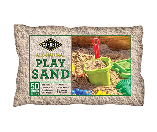 - SAKRETE of North America 40100301 50 lb Natural Play Sand