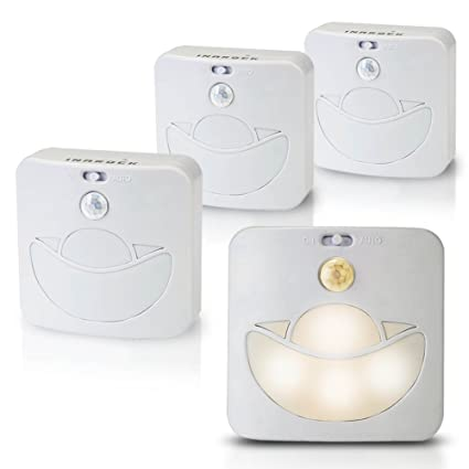 4 unidades inarock Batería con sensor de movimiento interior de pared Paso luces LED Stick Anywhere