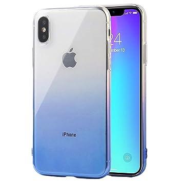 5460ba3611 iPhone X ケース グラデーション 高品質透明TPU素材 おしゃれ 高級感 防塵 指紋防止 ソフト