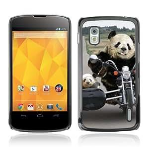YOYOSHOP [Funny Biker Panda & Son ] LG Google Nexus 4 Case by lolosakes