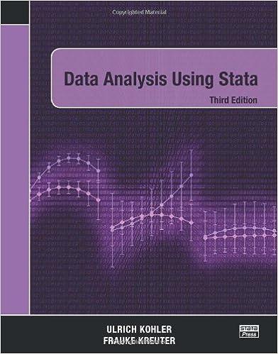 Book Data Analysis Using Stata, Third Edition