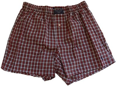 Red Plaid Woven Boxer - 6