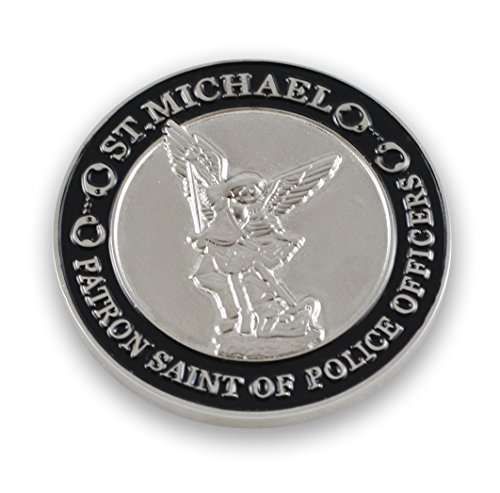 Silver St Michael Patron Saint of Police Officers Coin with Prayer (Value Pack) (1 ()