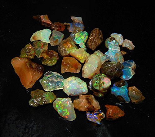 Amazing Quality Natural Ethiopian Opal Rough Lot 1 Piece 3.00ct Amazing Multi Fire Welo Fire Opal Rough Untreated Rough Raw Gemstone - Lot Rough
