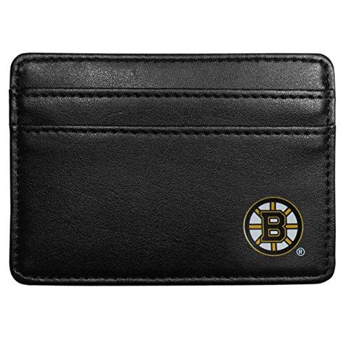 NHL Boston Bruins Leather Weekend Wallet, (Leather Boston Bruins Wallet)