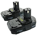 Ryobi P102  18V One+ Compact Lithium Ion Battery, 2 Pack (Certified Refurbished)