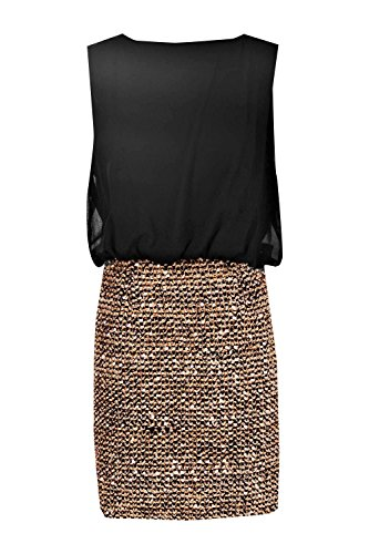 Buy black 2 in 1 sequin skirt dress - 4