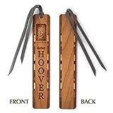 Herbert Hoover Engraved Wooden Bookmark with Tassel