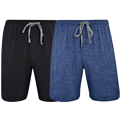 Hanes Men's & Big Men's Brushed Performace Knit Short - 2 Pack, Space Dye Colors ()