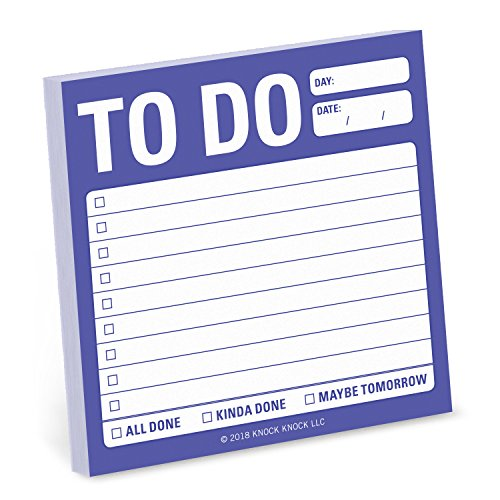 1-Count To Do Sticky Notes, To Do List Sticky Notes, 3 x 3-inches each