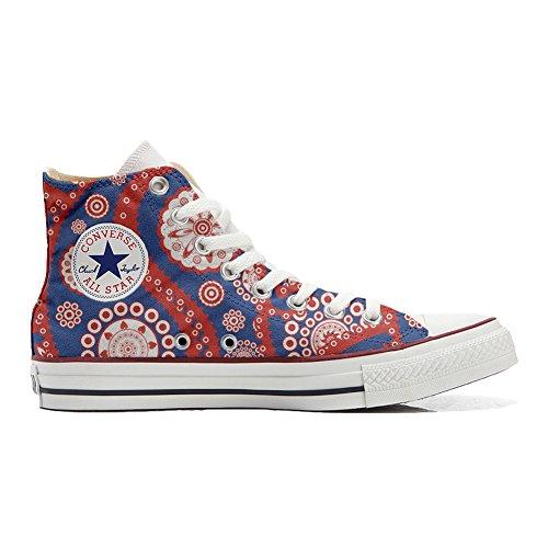 Converse All Star Hi Canvas, scarpe Personalizzate (prodotto artigianali) Vintage Paysley