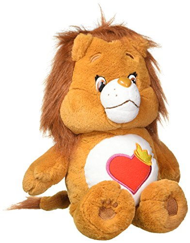 Just Play Care Bear Brave Heart Lion Plush, (Heart Care Bear Plush)
