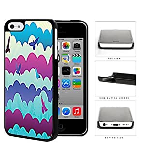 MMZ DIY PHONE CASEFlying Birds In The Clouds Hard Plastic Snap On Cell Phone Case Apple iphone 4/4s