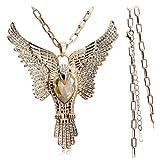 Atlas Jewels Austrian Crystal Parrot Paradise Bird Pendant Necklace