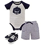 Yoga Sprout Baby Shorts, Bodysuit, Headband and Shoe Set, River Explorer, 3-6 Months