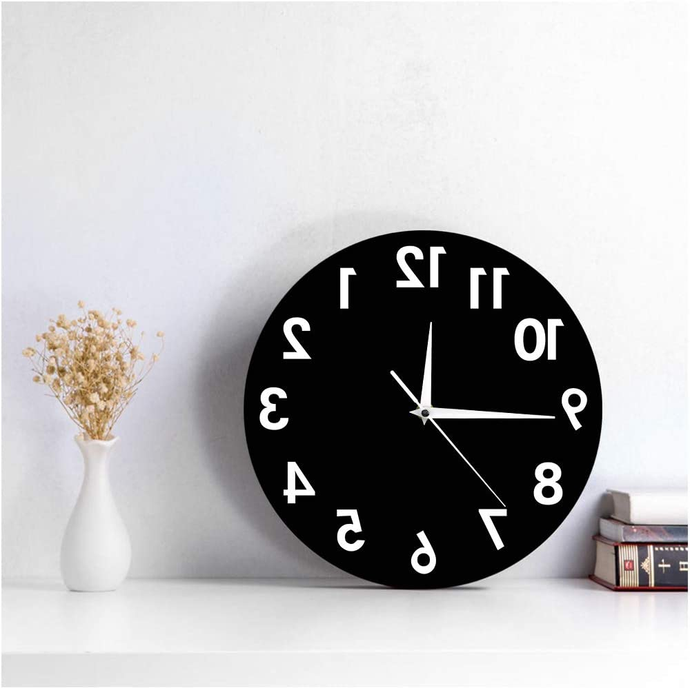 NEW Backwards Wall Clock novelty reverse time gift joke humour gift 792024