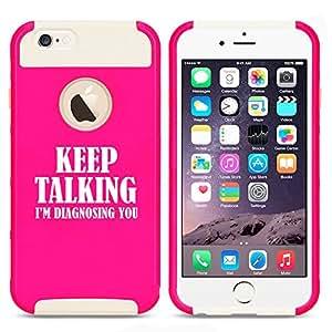 Apple iPhone 5c Shockproof Impact Hard Case Cover Keep Talking I'm Diagnosing You Nurse Doctor (Hot Pink-White)