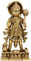 Standing Blessing Hanuman (Altar Piece) - Brass Sculpture
