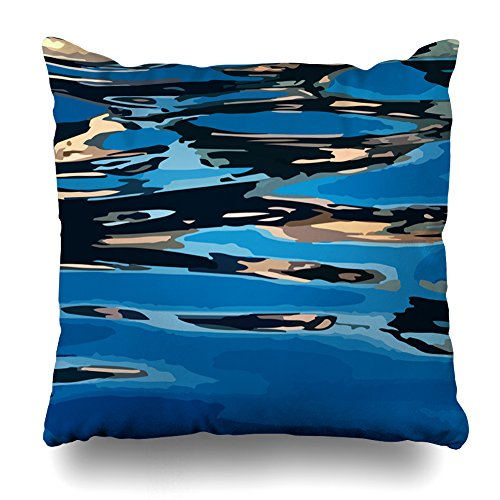KJONG Sunset Reflection Zippered Pillow Cover,18X18 inch Square Decorative Throw Pillow Case Fashion Style Cushion Covers(Two Sides Print)