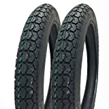 SET OF TWO: 2.75 - 16 (P44) M/C Tires Front/Rear Motorcycle Dual Sport On/Off Road