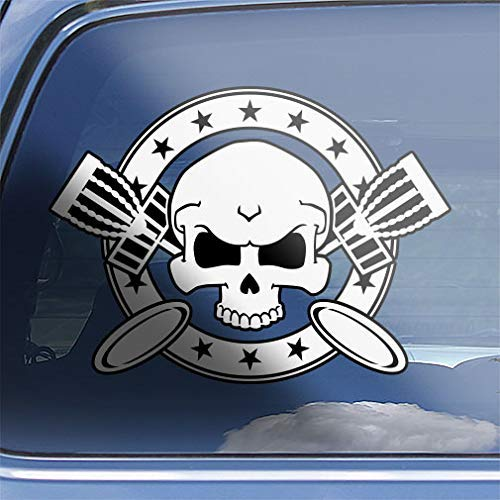 Disc Golf Skull & Crossbones Decal Sticker - CR