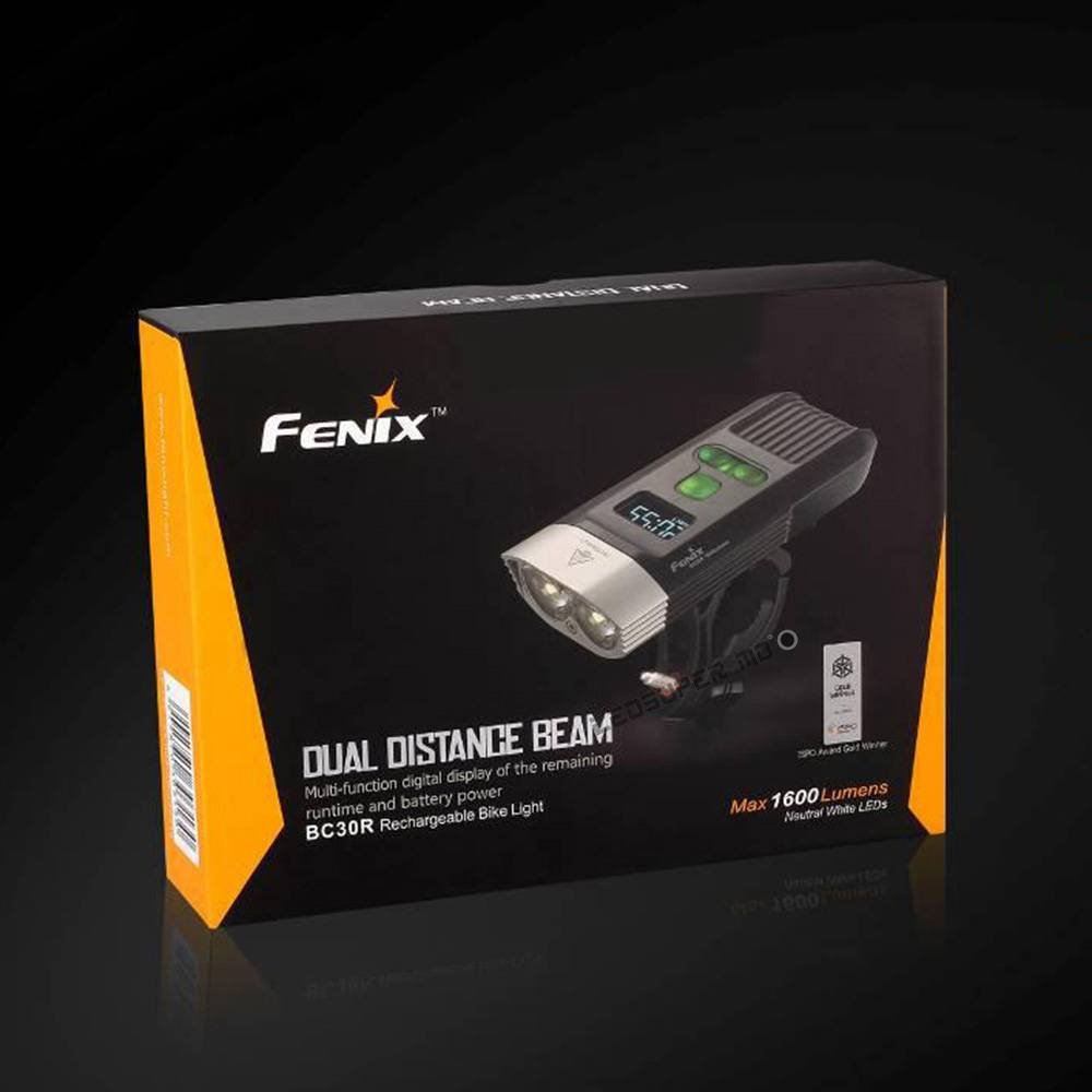 Fenix BC30R USB rechargeable bike light 1600 lumens OLED display screen 5200mah battery by Unknown (Image #5)