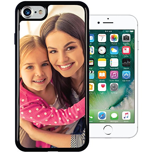iPhone 8 / 7 PixCase - Create Your Own Custom Case - Personalize It Yourself – Insert photos or create custom designs online and change anytime - Shock absorbing case with clear picture window (Custom Personalized Iphone)