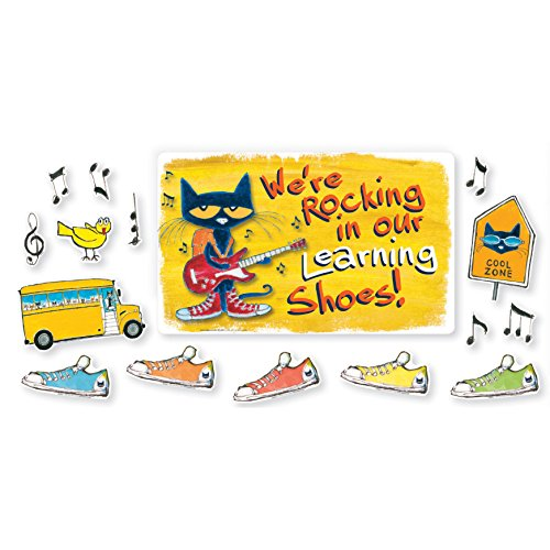 Edupress Pete the Cat We're Rocking in Our Learning Shoes Bulletin Board (EP62383) (Pete The Cat Bulletin Board)