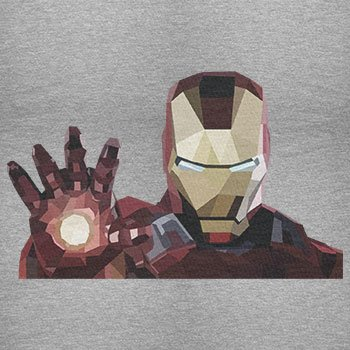 TEXLAB - Iron Polygon - Damen T-Shirt, Größe M, grau meliert
