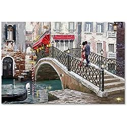 Venice Bridge by The Macneil Studio, 22x32-Inch Canvas Wall Art