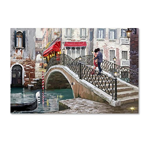 Venice Bridge by The Macneil Studio, 30x47-Inch Canvas Wall Art - Venice Bridge