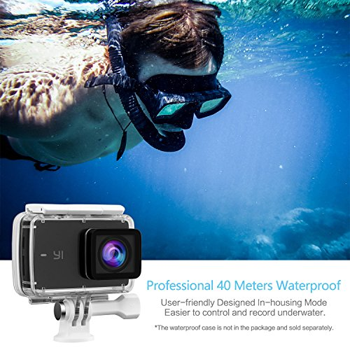"""YI Discovery 4K Action Camera 8MP WiFi 2.0"""" LCD Touchscreen with150° Wide Angle Sports Cam Sony Image Sensor"""