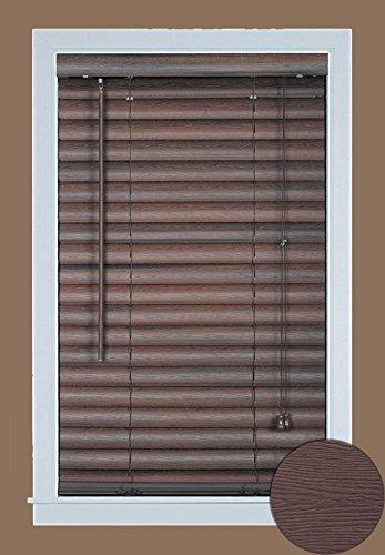 Achim Home Furnishings Luna 2-Inch Vinyl Blind, 29 by 64-Inch, Mahogany