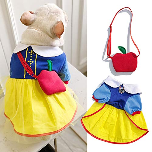 ROZKITCH Snow White Dog Costume Snow White Pet Apparel for Daily Wear Party Special Events Costume]()