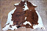 Hshse112 Hilason Hair On Leather Full Pure Columbian Cowhide Skin Rug Carpet