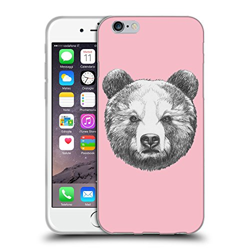 "GoGoMobile Coque de Protection TPU Silicone Case pour // Q05350630 Ours portrait Rose // Apple iPhone 6 4.7"""