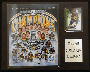 (C&I Collectables NHL Pittsburgh Penguins Men's 2016-2017 Stanley Cup Champions Plaque, Brown)