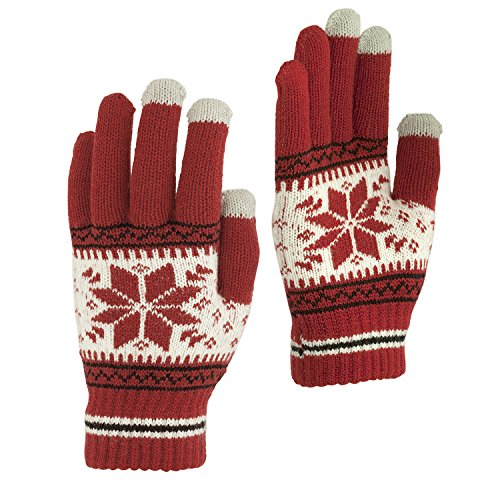Touchscreen Texting Gloves - Outdoor Men's/Women's Warm Knit Winter Gloves