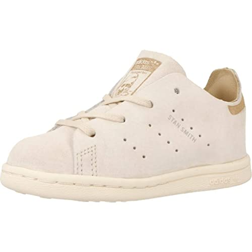Scarpe kids ADIDAS STAN SMITH FASHION in nubuk beige BB2539