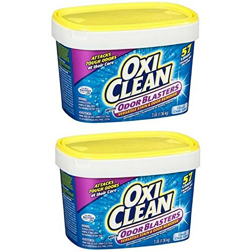 Versatile Stain Remover Powder - OxiClean Odor Blasters Classic Clean Scent Versatile Stain & Odor Remover Powder, 3 lb 57 Loads (Pack of 2)